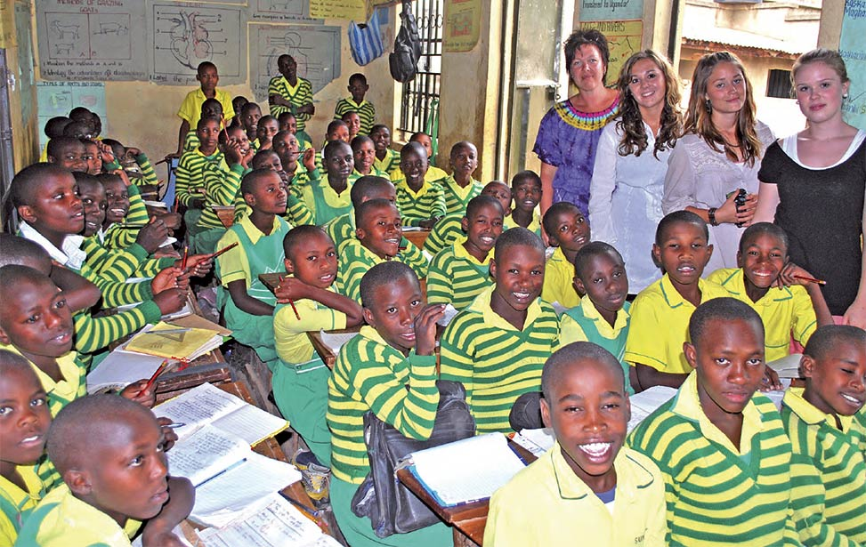 Strand highschool in Norway raised money to support the NGO Child Africa in Uganda
