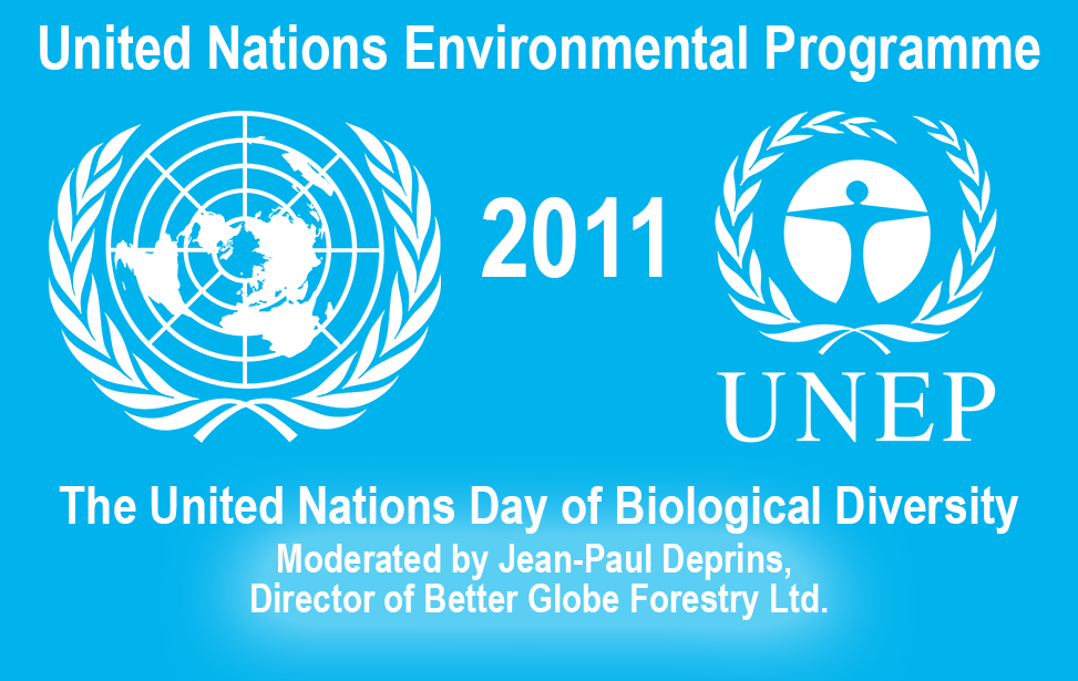 Jean-Paul Deprins from Better Globe Forestry moderated the United Nations Day of Biological Diversity