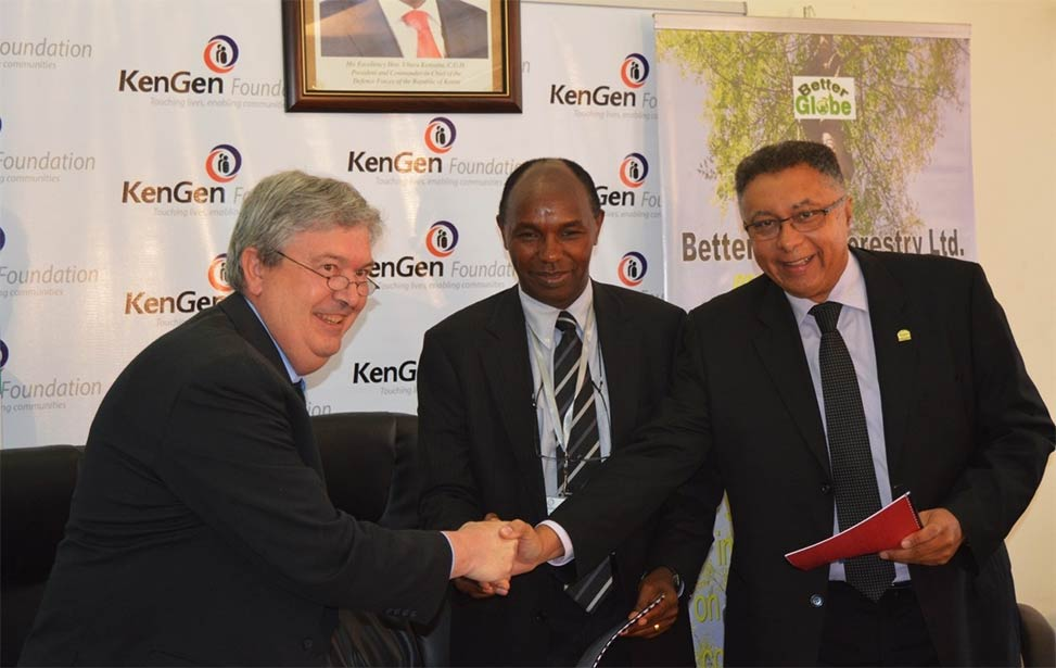 MoU signed between KenGen, Better Globe Forestry and Bamburi Cement