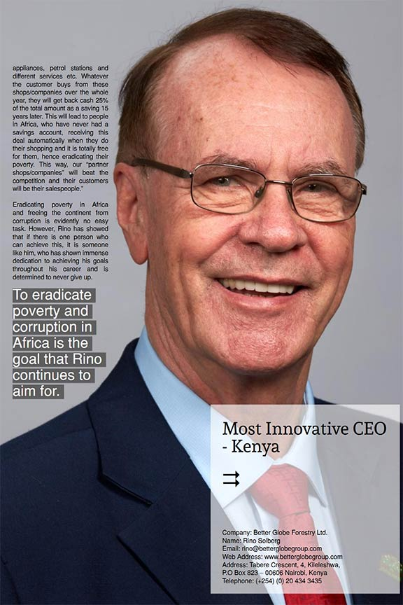 Rino Solberg - Most Innovative CEO - Kenya