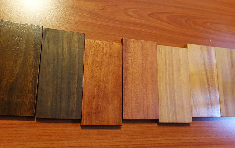 Samples of mukau hardwood flooring