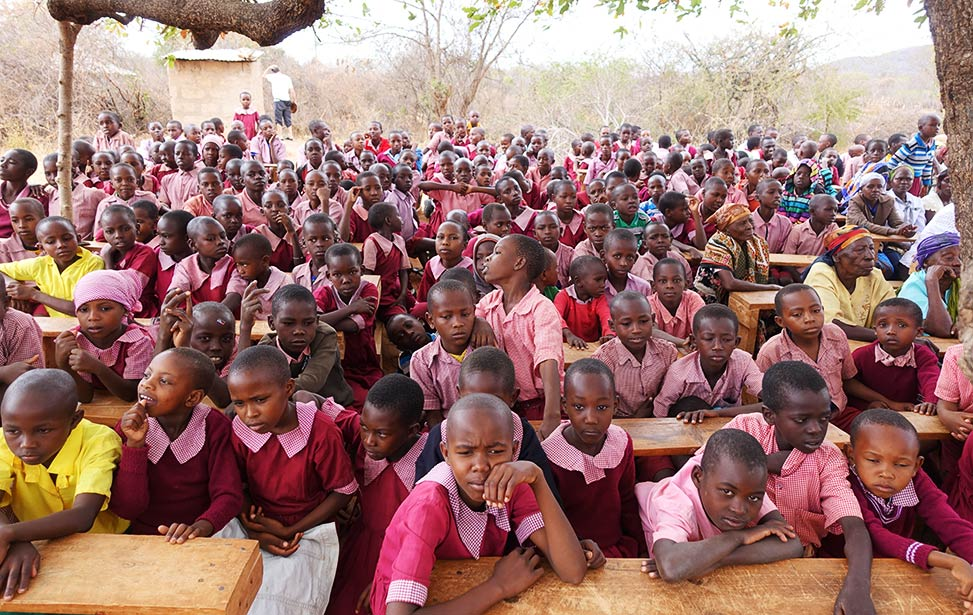 Younger students at Mboti School in Kenya