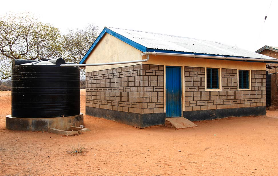 Mboti Primary School water tank