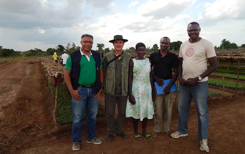A group of leaders in Uganda with Better Globe Forestry