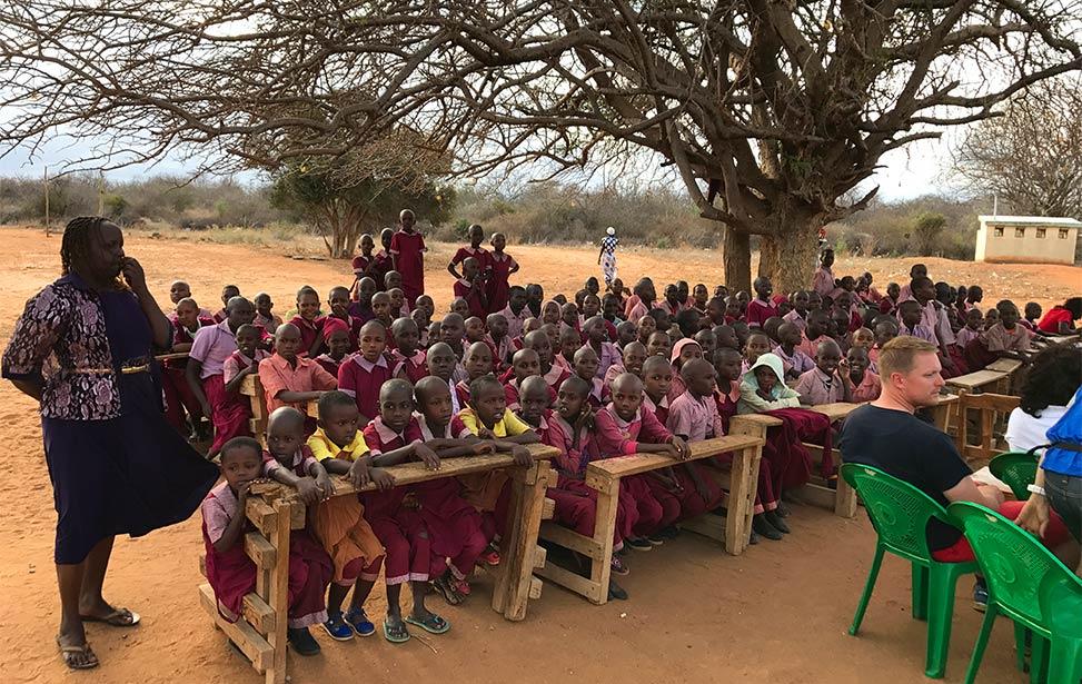 Children at Mboti Primary School
