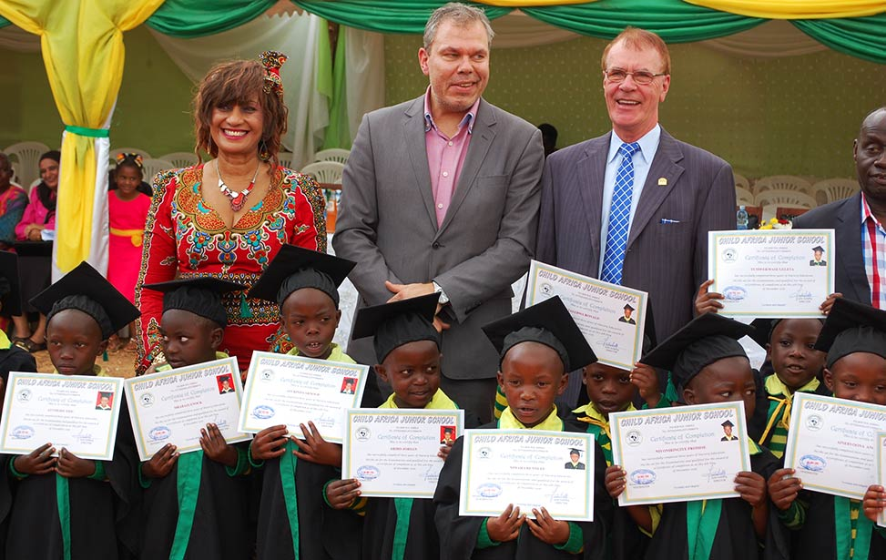 Kids completed three years of nursery education at Child Africa school
