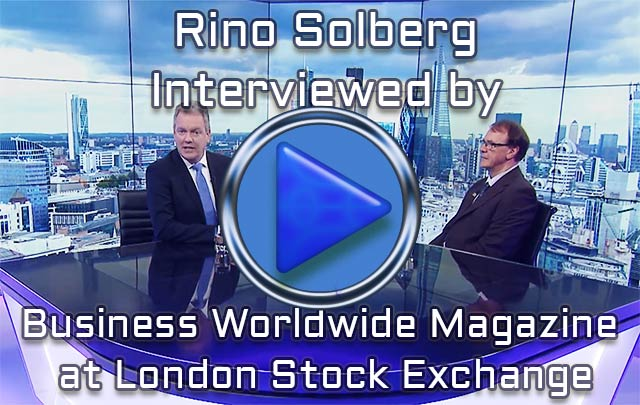 Our CEO Rino Solberg interviewed by Business Worldwide Magazine at London Stock Exchange